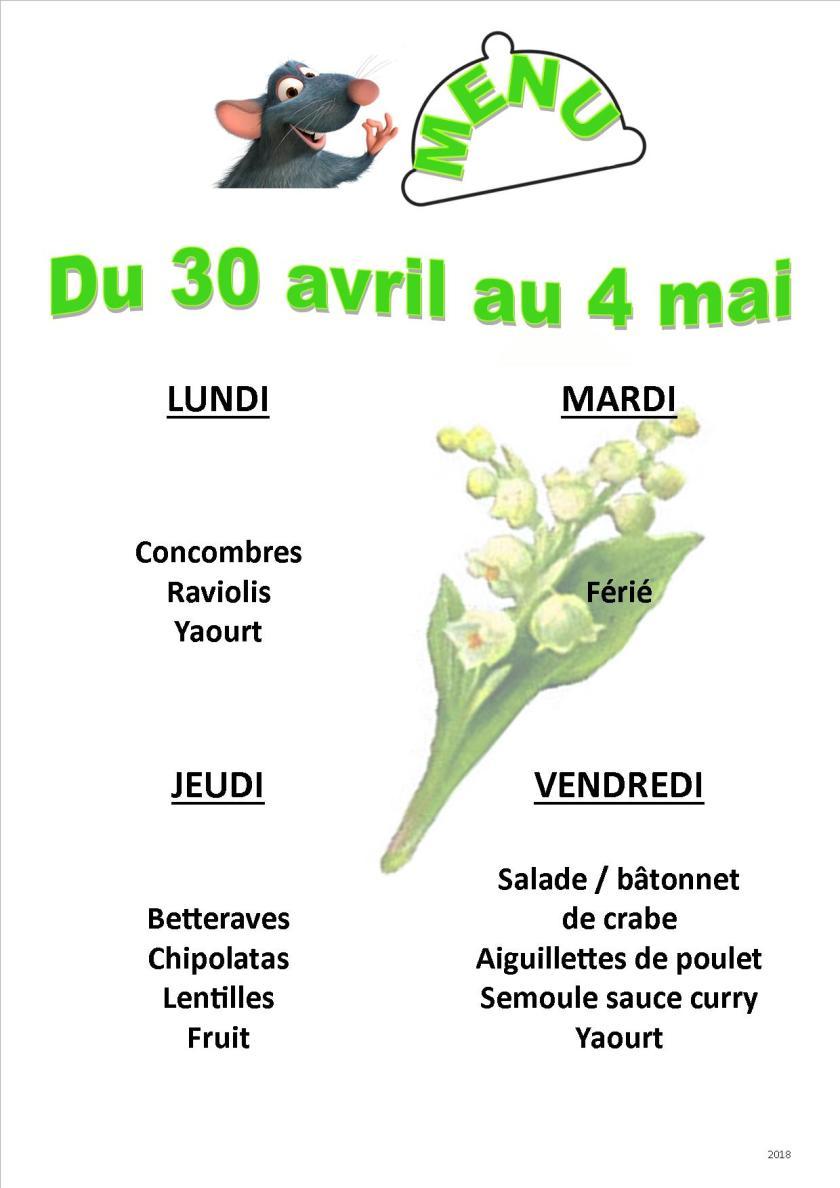 menu 2018 04-05 du 30 au 4