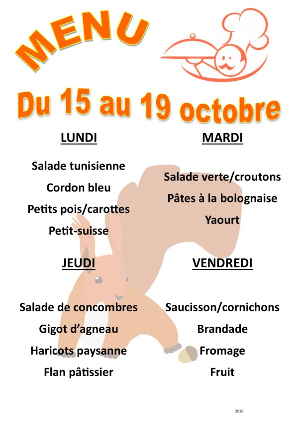 menu 2018 10 du 15 au 19