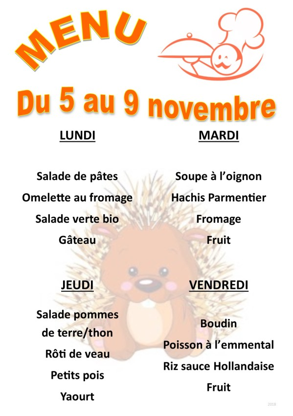 menu 2018 11 du 05 au 09