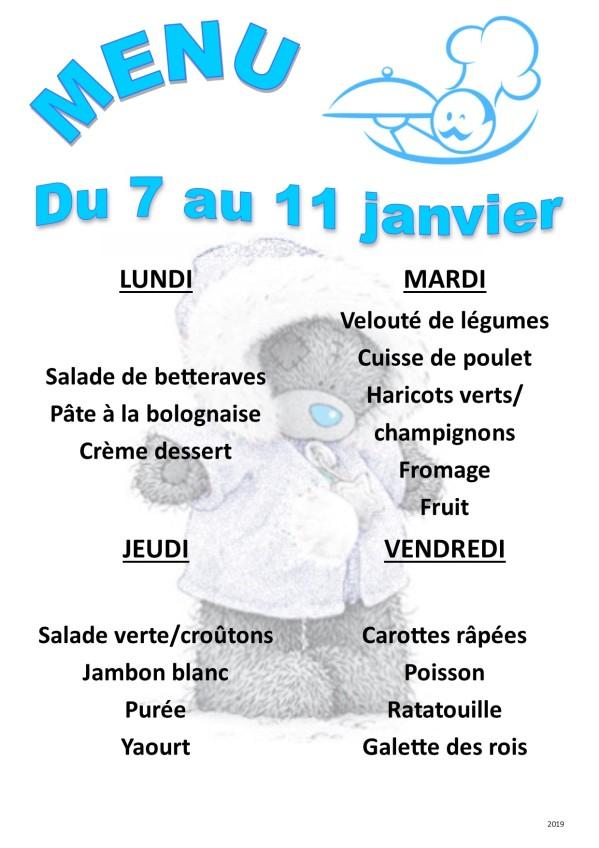 menu 2019 01 du 07 au 11