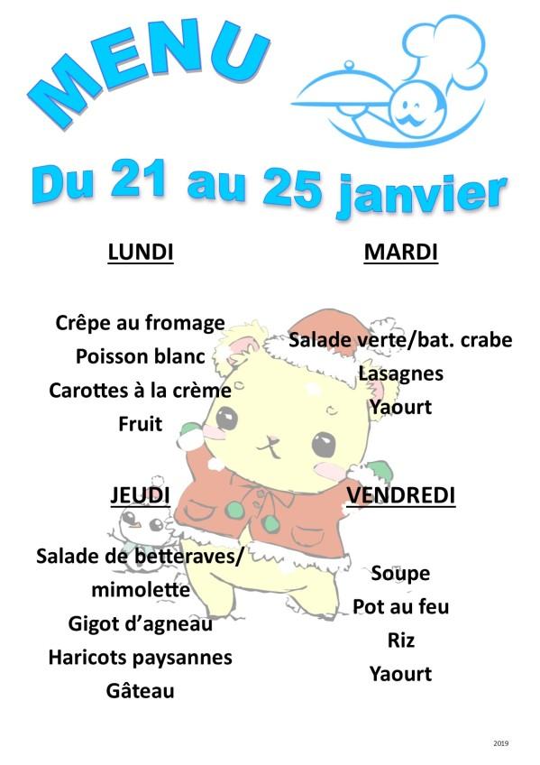 menu 2019 01 du 21 au 25