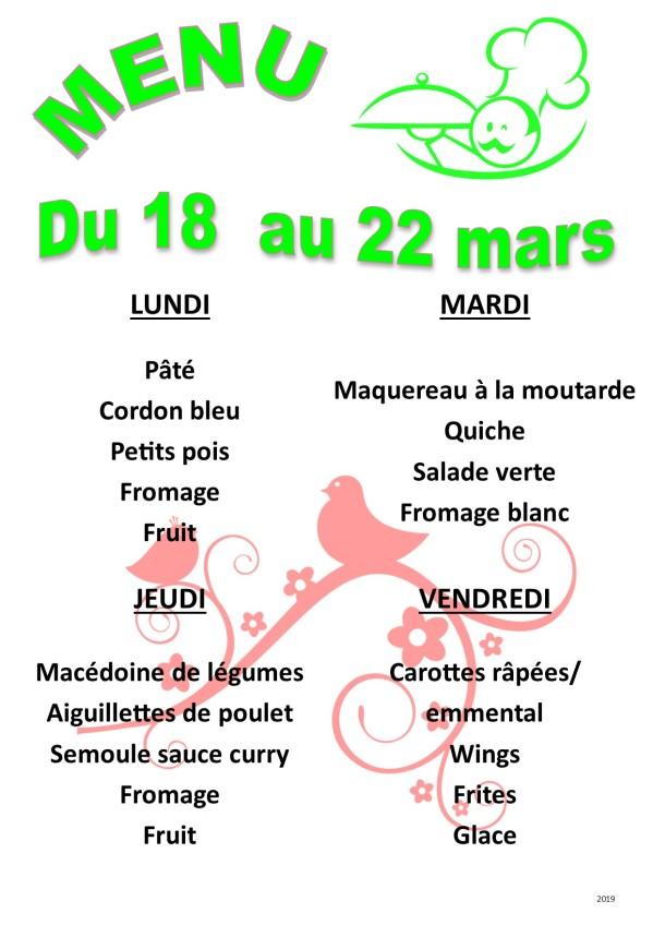menu 2019 03 du 18 au 22