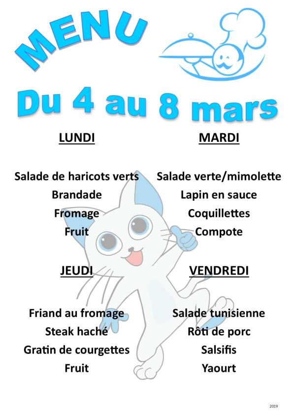 menu 2019 03 du 4 au 8