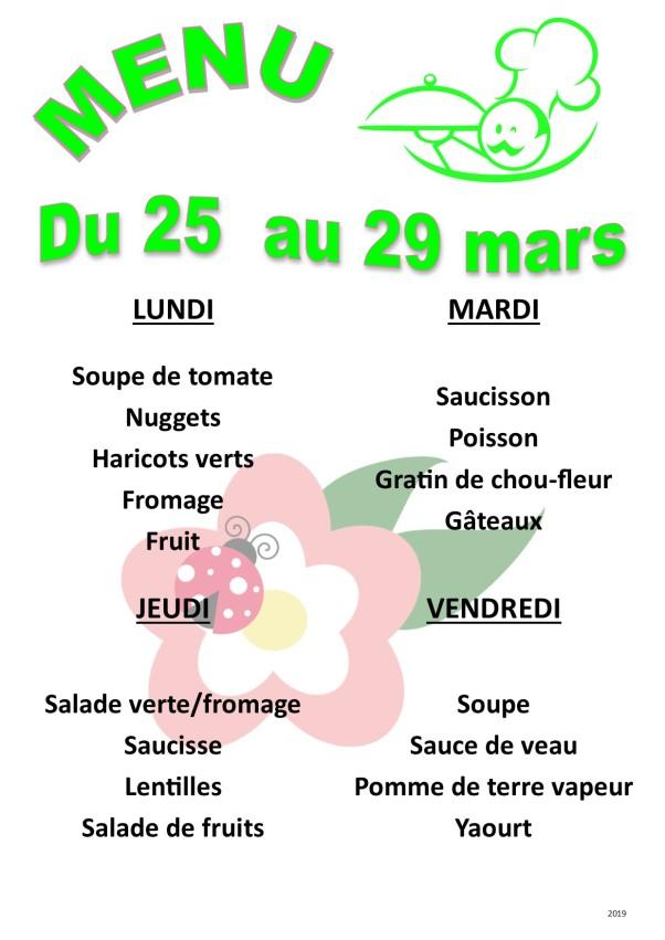 menu 2019 03 du 25 au 29