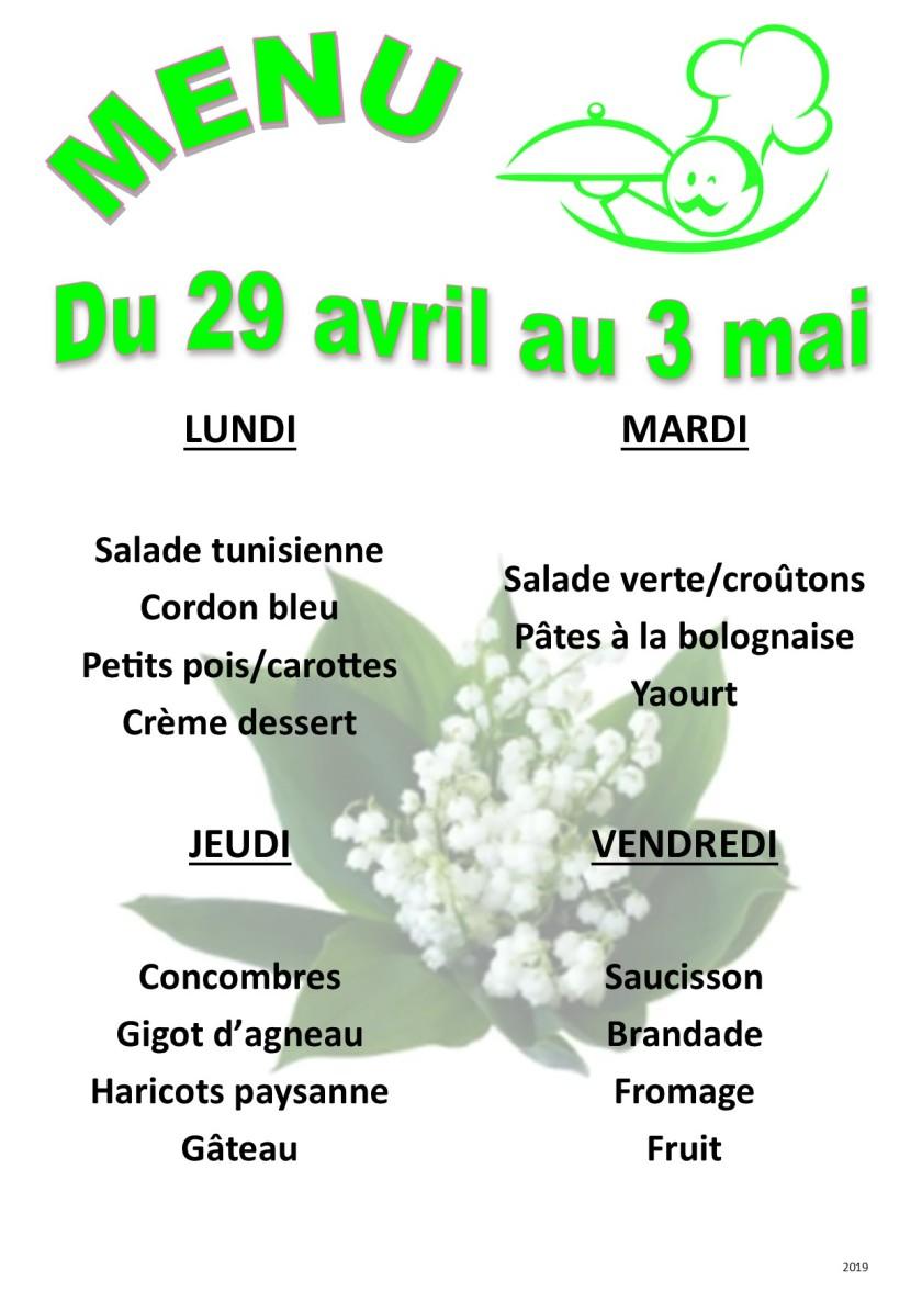 menu 2019 04-05 du 29 au 3