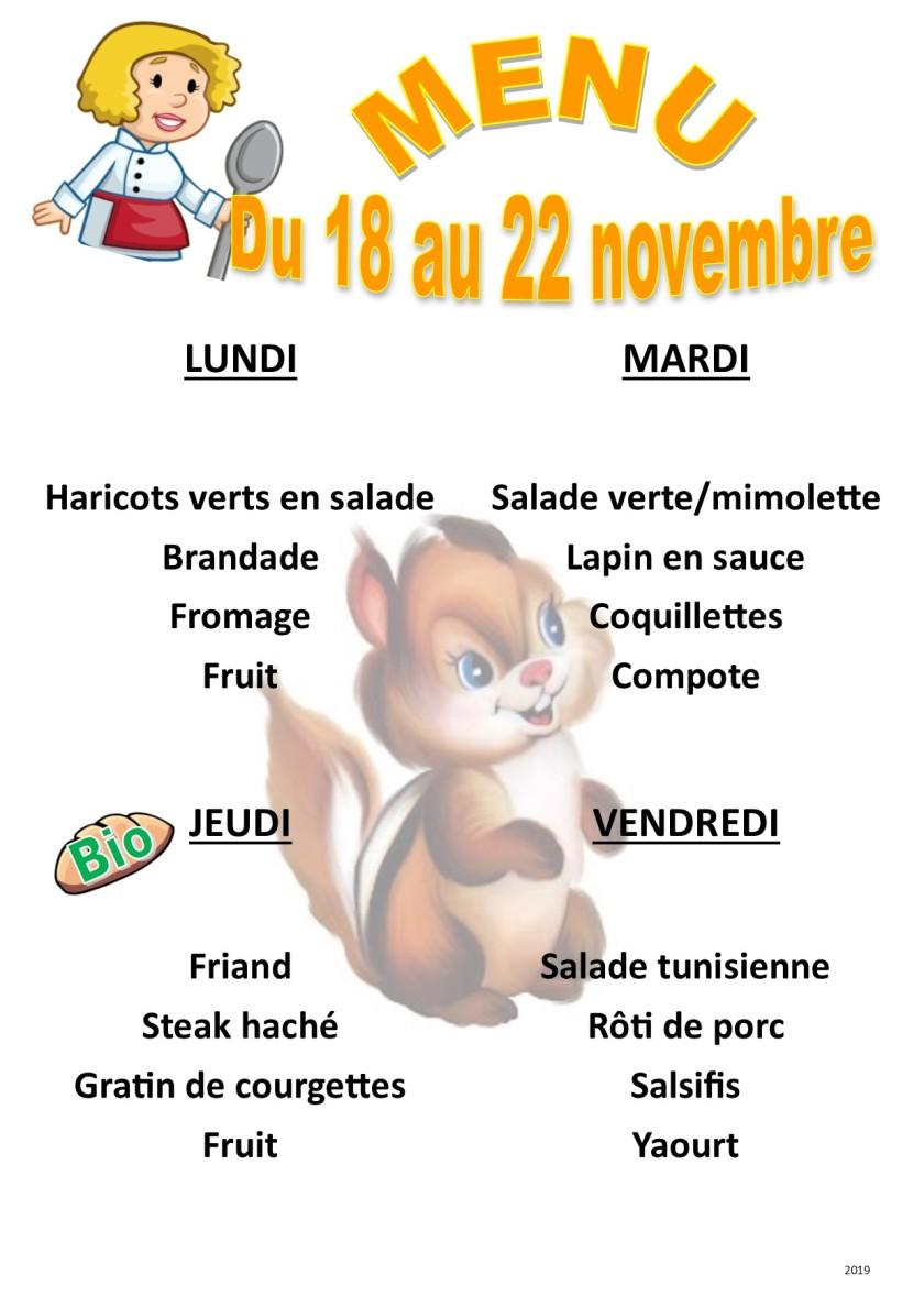 menu 2019 11 du 18 au 22