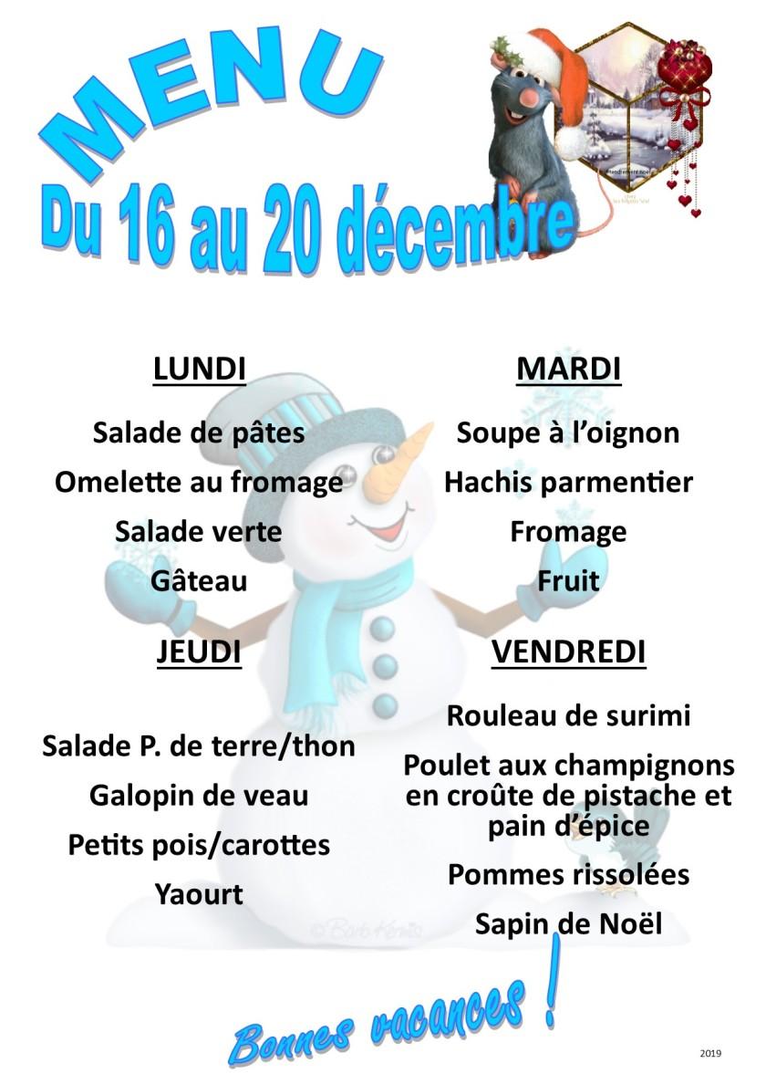 menu 2019 12 du 16 au 20