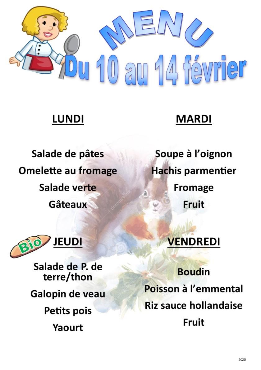 menu 2020 02 du 10 au 14